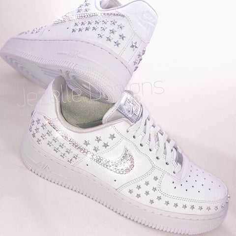Nike Air Force 1 07 XX Star Rivets w/ Swarovski Crystals (White)