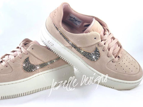 Image of Nike Air Force 1 Sage XX Low w/Swarovski Crystals (Particle Beige)