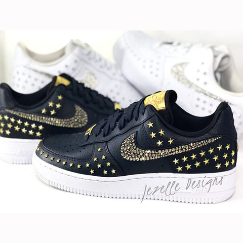 Image of Nike Air Force 1 07 XX Star Rivets w/ Swarovski Crystals (White)