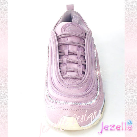 Image of (SIZE 8) READY TO SHIP - Swarovski Nike Air Max 97 (Pink Rose/Silver)