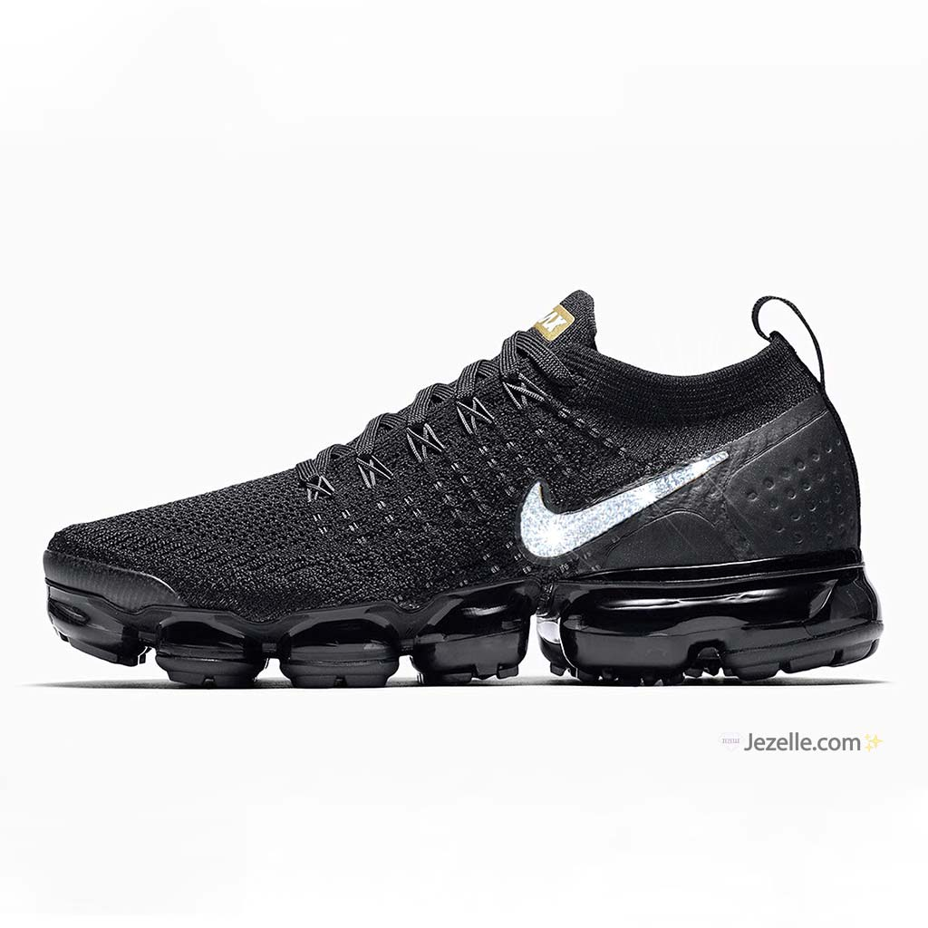 Nike Air Vapormax Flyknit 2 - Black Metallic Gold Metallic Platinum ... 3c8816de4