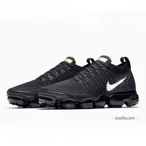 Nike Air Vapormax Flyknit 2 - Black/Metallic Gold/Metallic Platinum