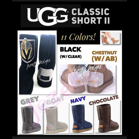 Image of Custom Classic Short II Uggs® with Swarovski Crystals®