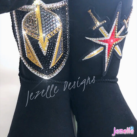 Vegas Golden Knights Blinged Uggs Flag