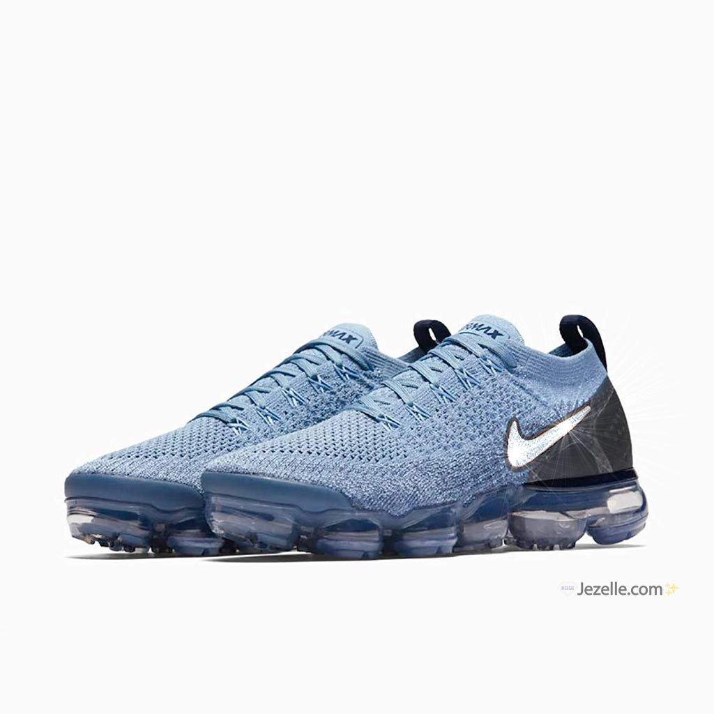 e75ab0f31c752 ... Vapormax Flyknit 2 - Work Blue Crimson Tint Diffused Blue. Blingy Nike  Shoes  Bling Nike Sneakers ...