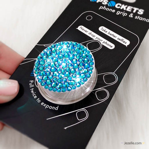 Blue Zircon Shimmer Popsocket