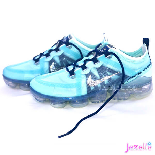 Bling Nike Air Vapormax 2019 Blue Womens