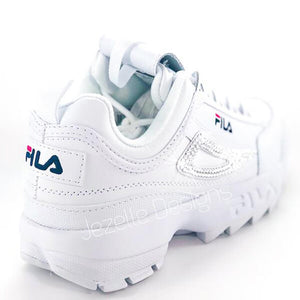 (SIZE 8) Fila Disruptor 2 Premium Shoes w/Swarovski Crystals (White/Red/Navy)