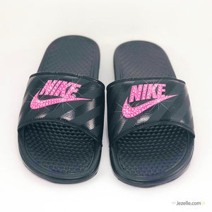Hot Pink Crystal Slides