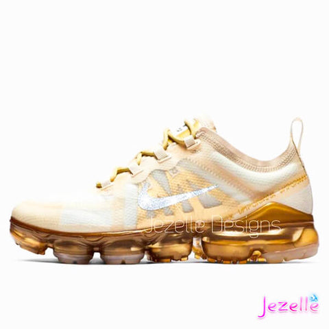Image of Blinged Out Swarovski Gold Vapormax 2019