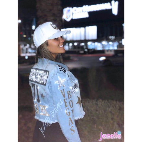 Image of Womens denim Jackets with Bling