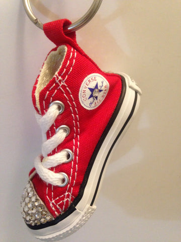 Crystal Converse Keychain - Red