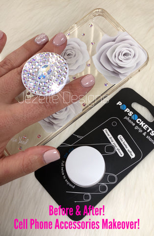 Image of Personalized Popsocket with Swarovski Crystals
