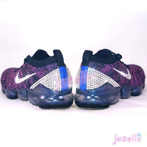 Purple Nike Air VaporMax Flyknit 3 with Swarovski Crystals