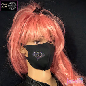 """Flex-Fit"" Genuine Swarovski ""GG"" Face Mask"