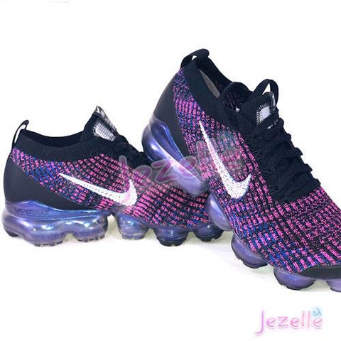 Image of Purple Nike Air VaporMax Flyknit 3 with Swarovski Crystals
