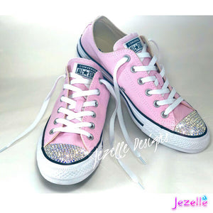 Bling Converse All Stars w/ Swarovski Crystals - (Pink/White)