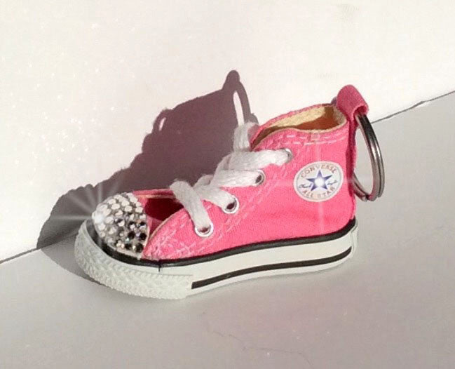 Pink Bling Converse Keychain