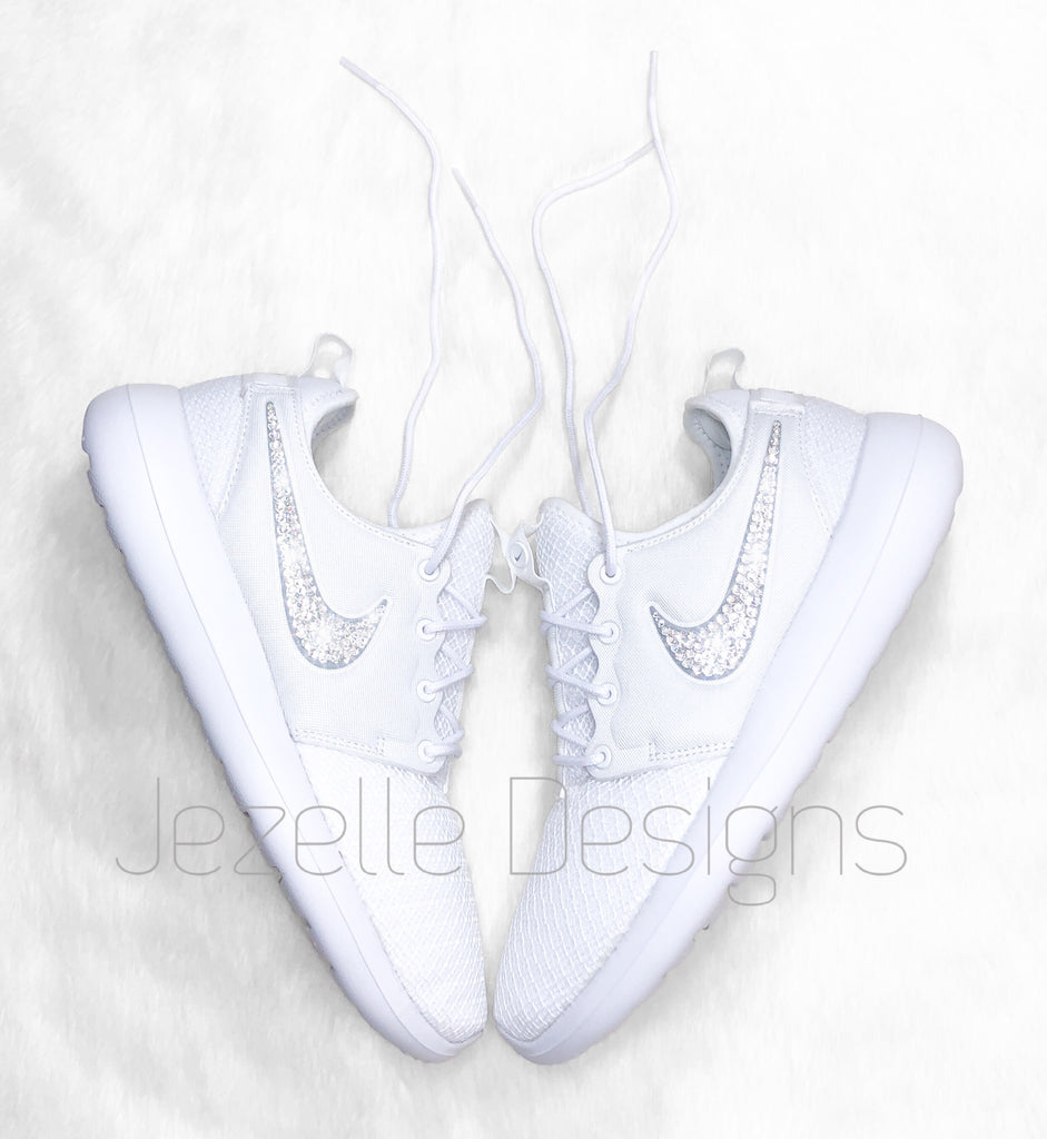 white bling nikes