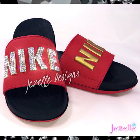 Image of Nike Bling Offcourt Sliders for Women