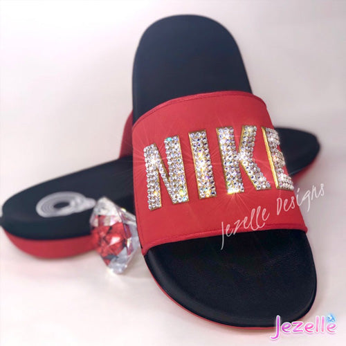 Nike Blinged Out Sliders For Women
