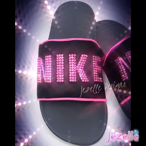 Hot Pink Bling Slides