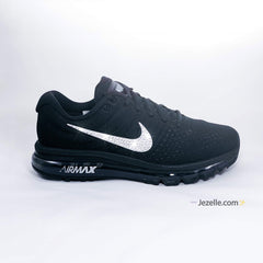 Nike Shoes with Rhinestone Swoosh Swarovski Crystal Nike Air Max 2017 (Black ) 7844e1dd4