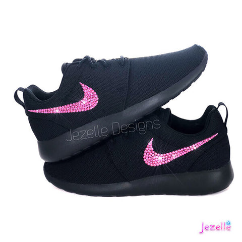Image of Bling Nike Black Pink Tanjun