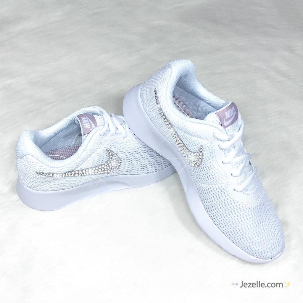 42df9207a5d2 Swarovski Nike Tanjun Shoes (White Particle Rose) – Jezelle.com