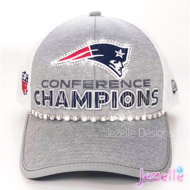 Swarovski Blinged Out Patriots Hat
