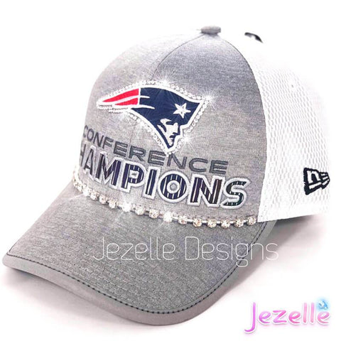 Image of Blinged Out Patriots Trucker Hat