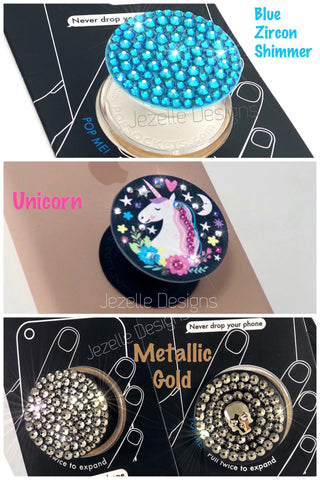 Image of Popsockets with crystals