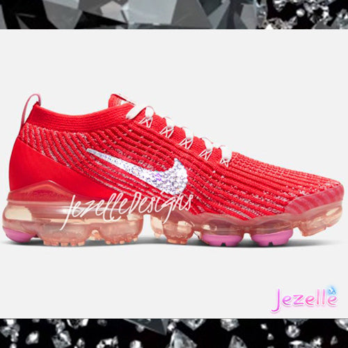 Rhinestone Vapormax With Crystals