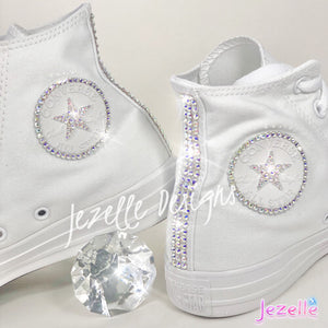 Swarovski Blinged Out Converse High Tops (Circle Logo + Star)