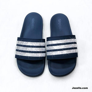 Swarovski Adidas Ultimate Cloudfoam Plus-Sparkly Slides Sandals