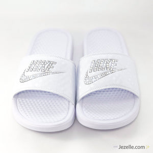 Blinged Out Nike Slides