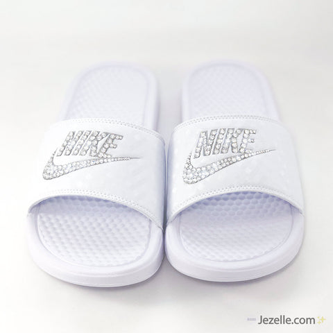 Image of Blinged Out Nike Slides