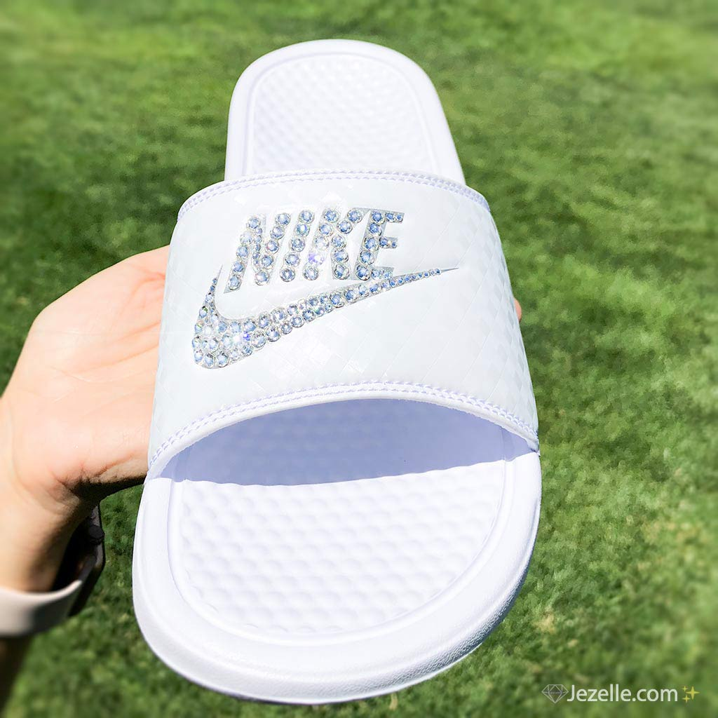 Nike Slide Sandals with Bling