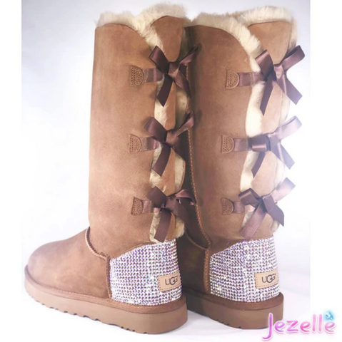 Image of Custom Bailey Bow Uggs® TALL with Swarovski Crystals®