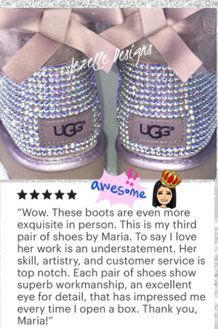 Image of Swarovski Bailey Bow II Uggs® - SHORT 2 Bows