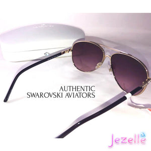 (LAST ONE!) Swarovski Aviator Sparkle Bling Sunglasses - READY TO SHIP!