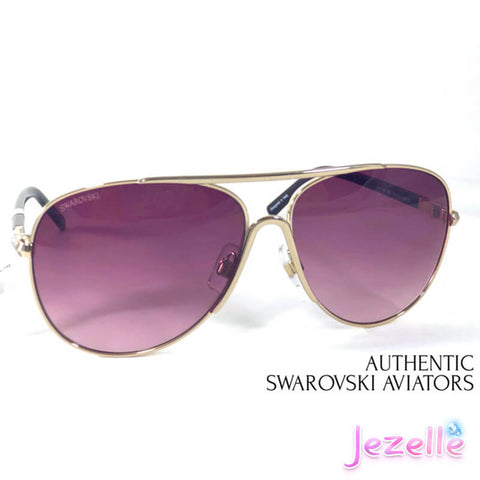 Image of Aviator Sunglasses By Swarovski