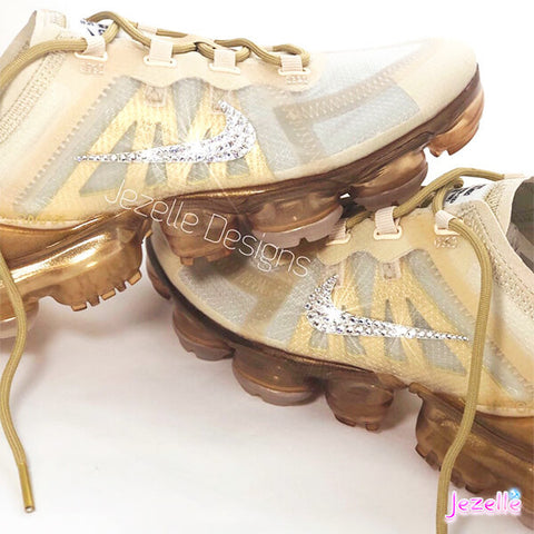 Image of Swarovski Vapormax Gold 2019 Nike Air