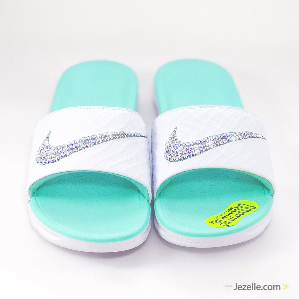 a31962596 ... Nike Benassi SolarSoft Slide Sandals 🔥. Tiffany Blue Sandals ...