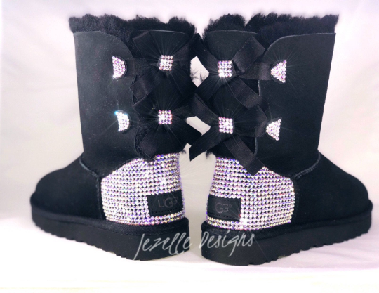 Custom Bailey Bow II Uggs® with Swarovski Crystals® - SHORT 2 Bows