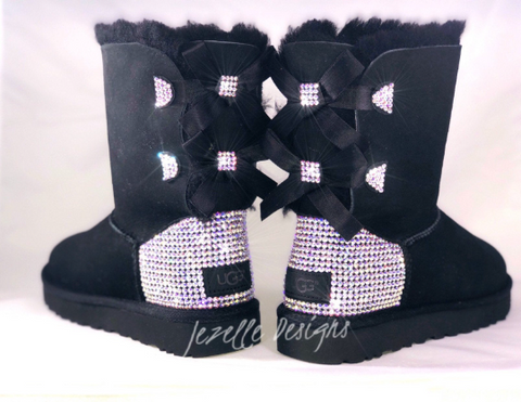 Image of Custom Bailey Bow II Uggs® with Swarovski Crystals® - SHORT 2 Bows