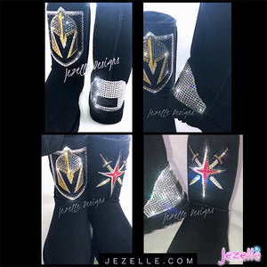Personalized Swarovski Bailey Bow Uggs® (Vegas Golden Knights)