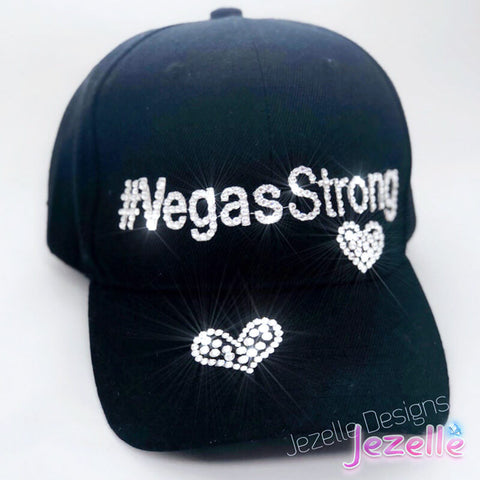 "Image of (LAST ONE) READY TO SHIP! Swarovski ""Vegas Strong"" Custom Bling Hat"