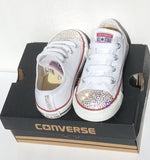 White Bling Out Converse