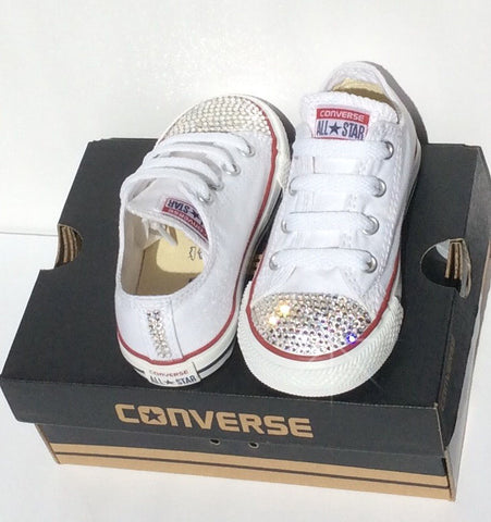 Image of White Bling Out Converse